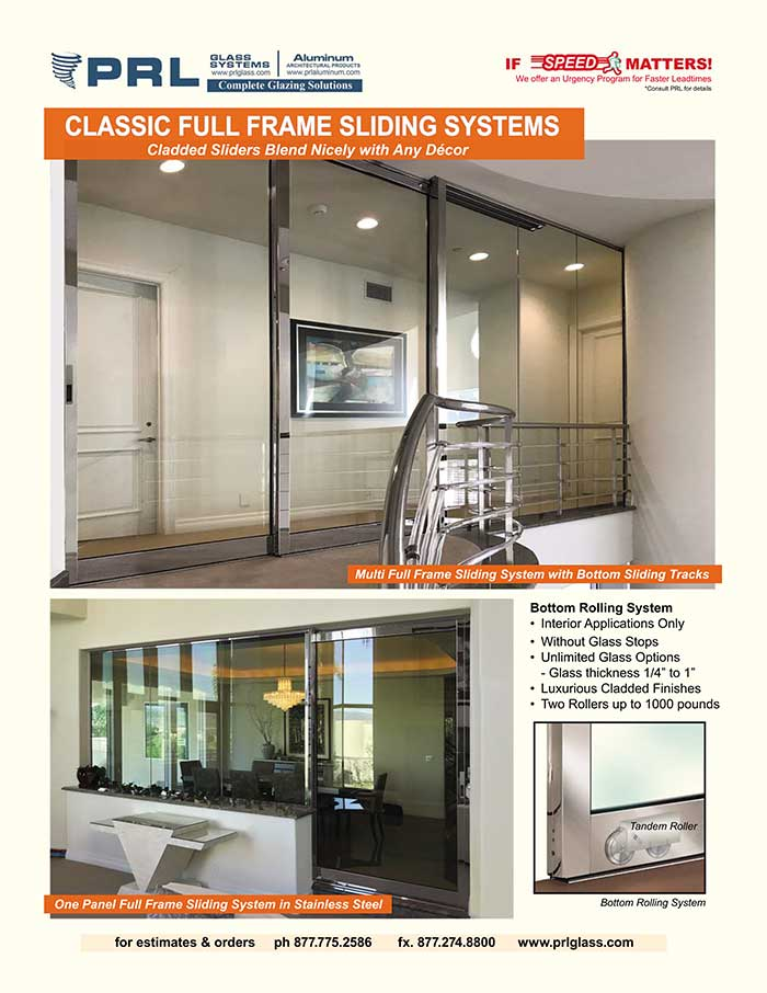 Make Your Interior Sliders Count. Count on PRL's Classic Full Framed Sliding Doors