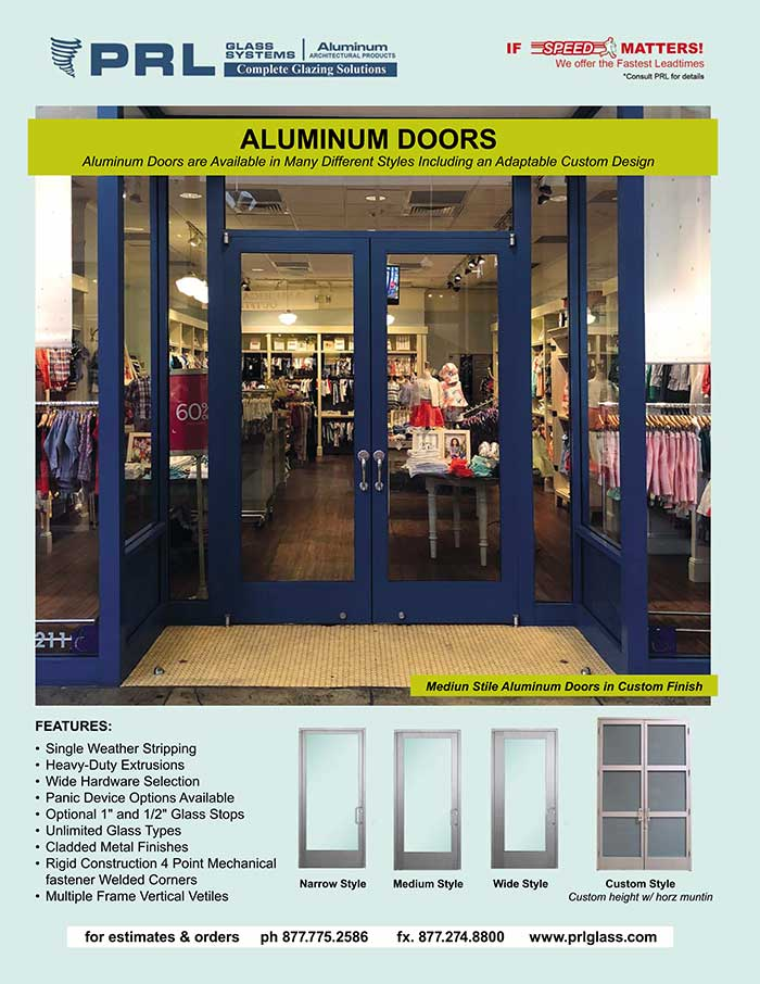 Complete Aluminum Ingress Door Systems. PRL Does What? Find Out!