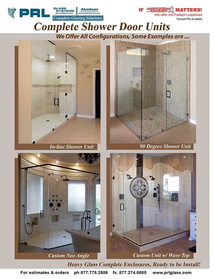 Complete Shower Door Units