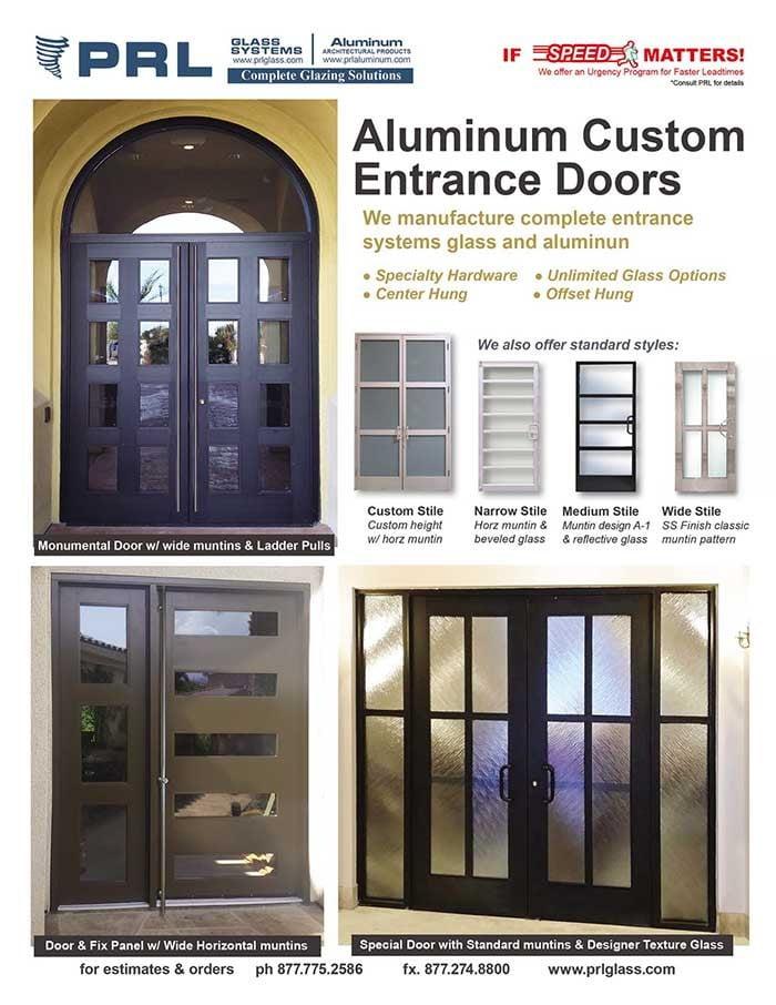PRL's Custom Aluminum Entrance Doors & Storefronts