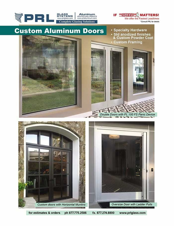 PRL's Custom Aluminum Entrance Doors