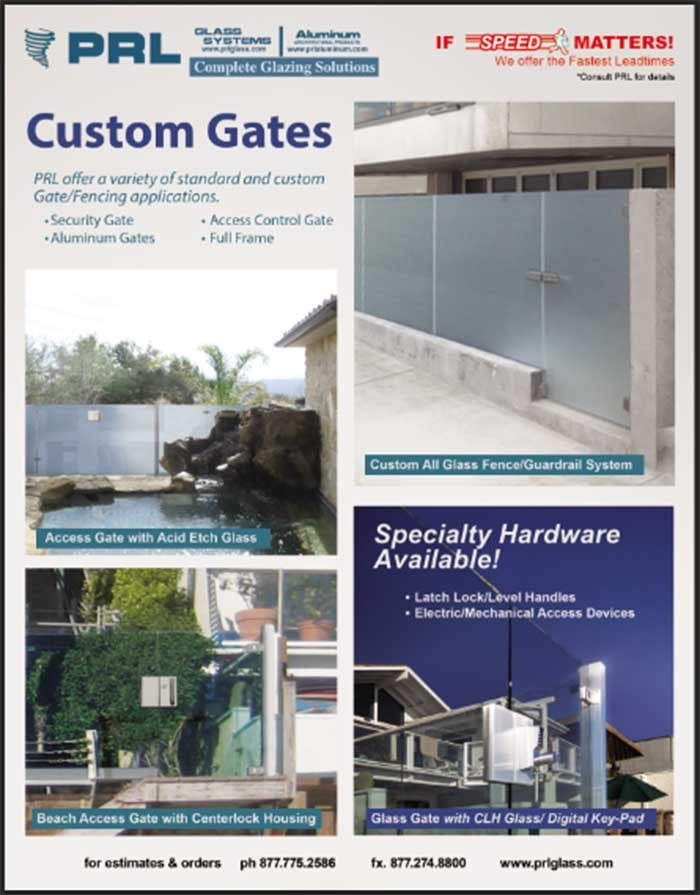 Glass Gates beautifully showcase gardens and pools