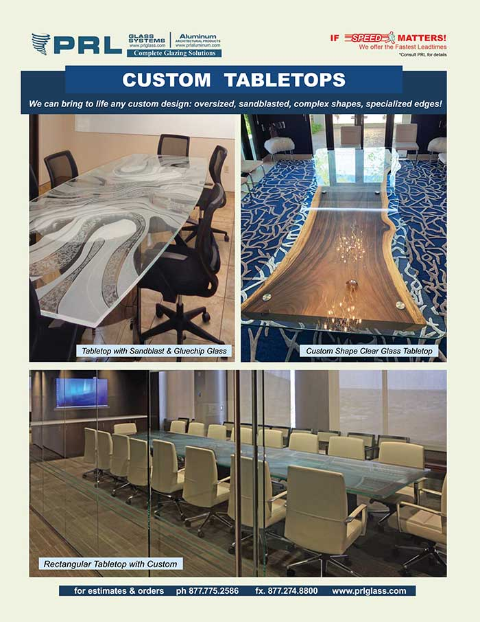 PRL's Custom Glass Table Tops. Discover the Possibilities!