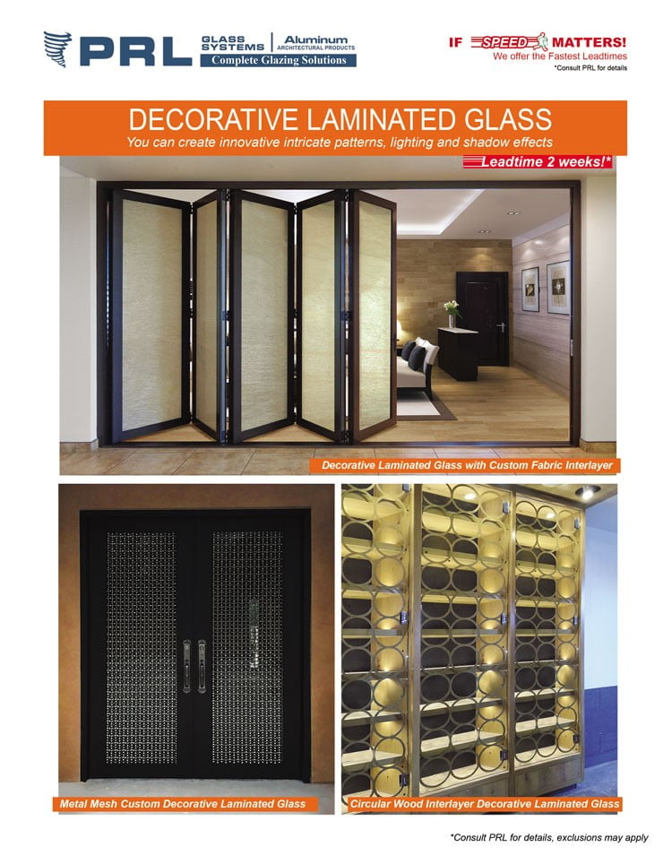 Buy Decorative Laminated Glass at PRL. Create Awe-Inspiring Projects with Us!