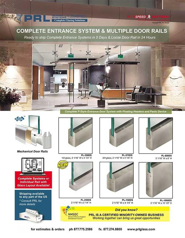 PRL Door Rails will Complete Your Stunning Glass Door Entrance