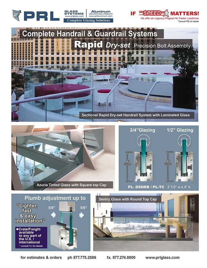 PRL's Rapid Dry Set Handrail System