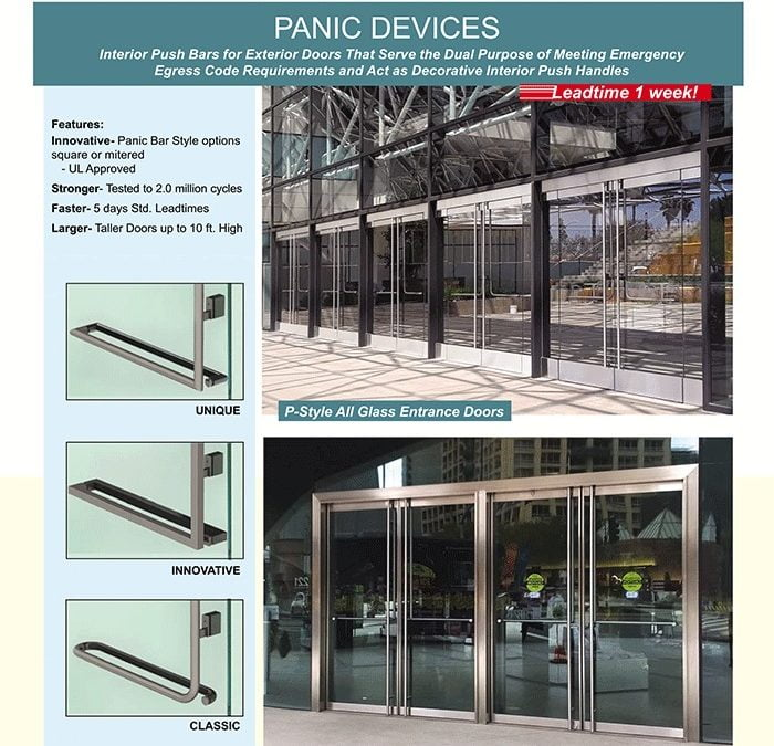 PRL Panic Devices. Strength & Sophistication for Emergency Exit Doors