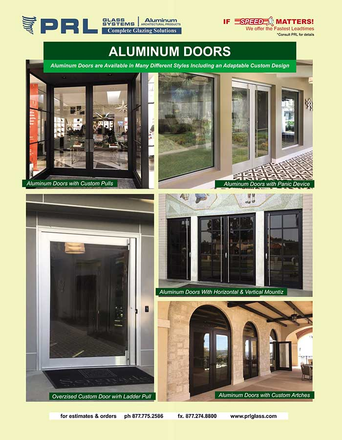 Buy Aluminum Entry Doors at PRL. Strong & Reliable for Healthcare & Office Accessways!