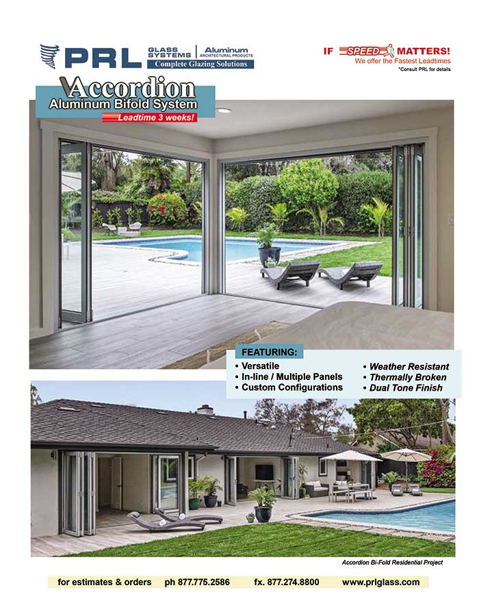 Order PRL's Exterior Aluminum Folding Doors. Increase Performance with Us!