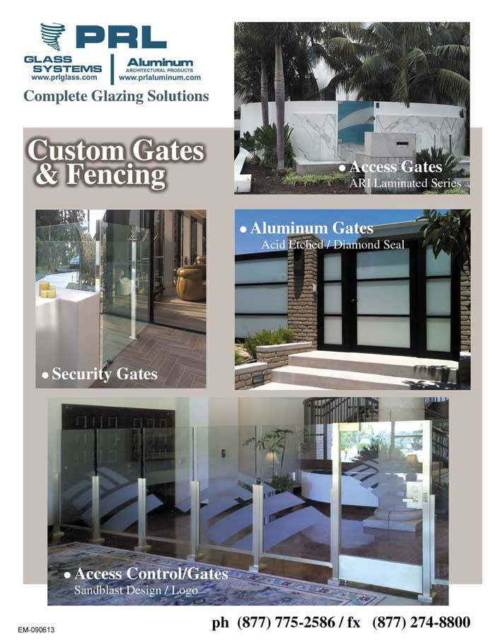 frameless all-glass gates