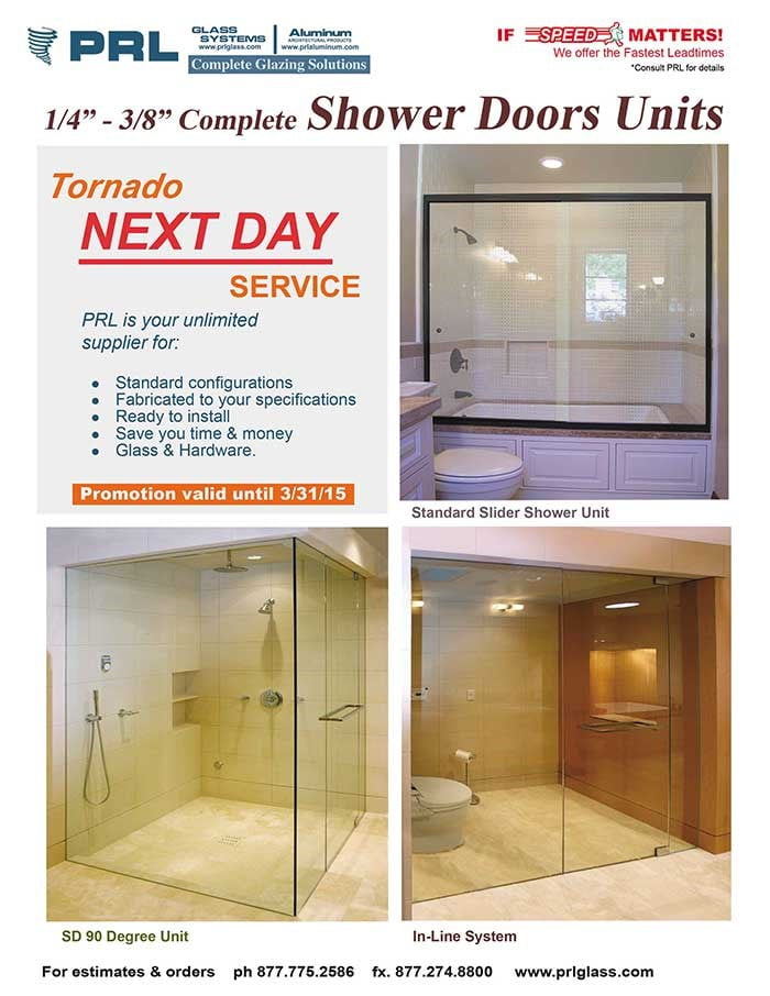 1/4″ & 3/8″  Frameless Shower Doors & Glass Only Next Day Service
