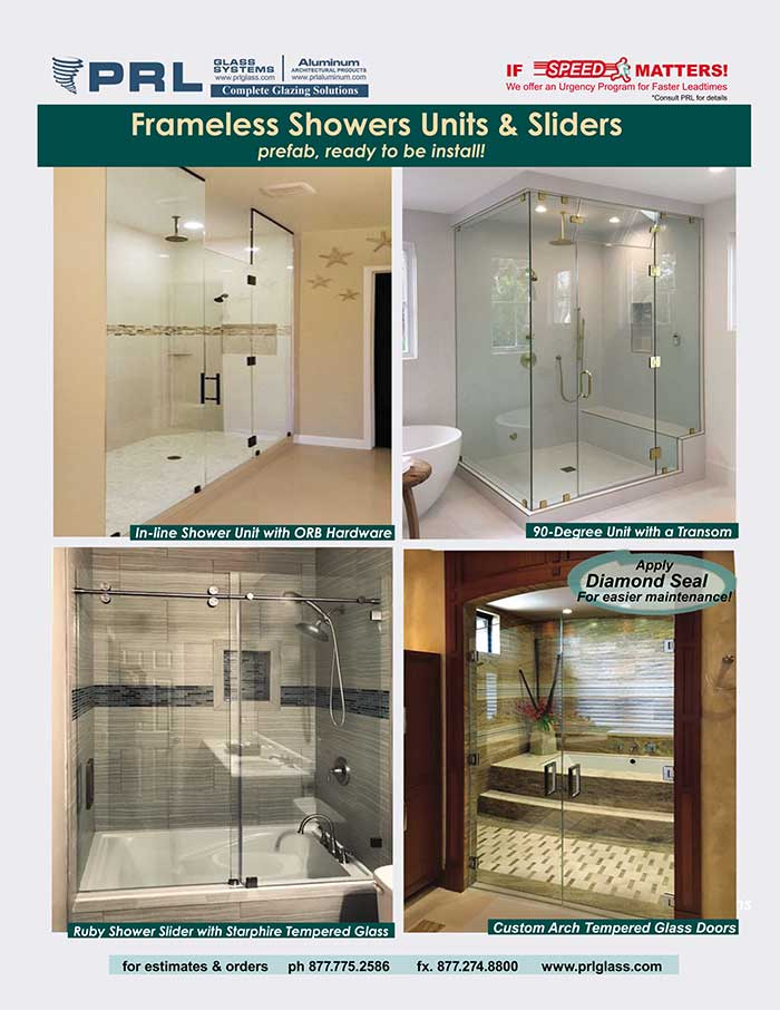 Frameless Shower Units & Sliders