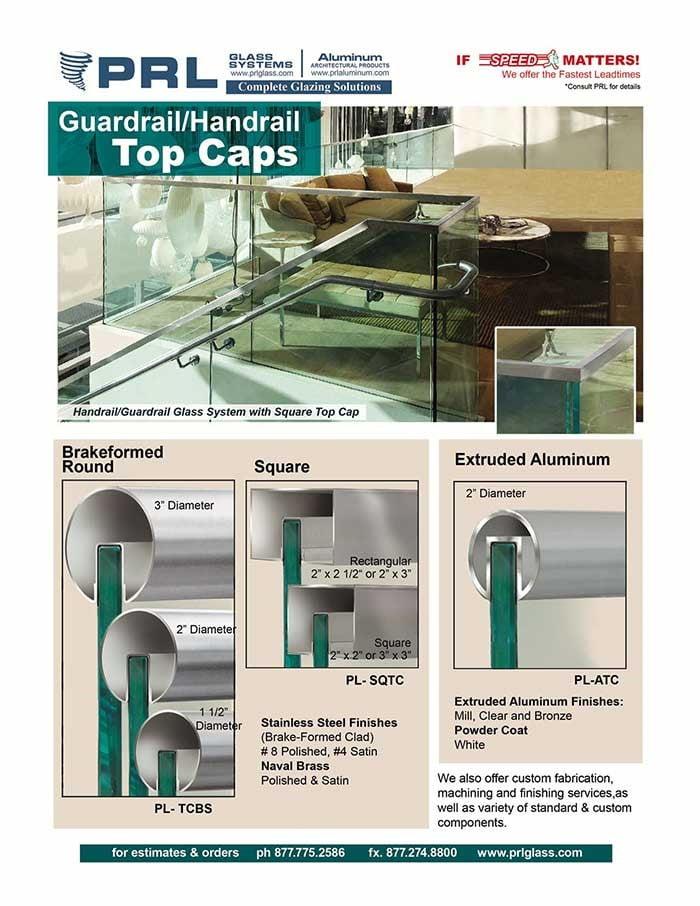 Guardrail and Handrail Components – Top Caps