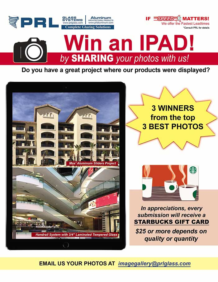 3 iPads giveaway. Share your project photos with us and enter for a chance to win an IPad. Is that easy!