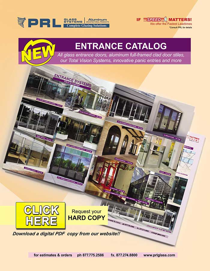 glass entrance door catalog