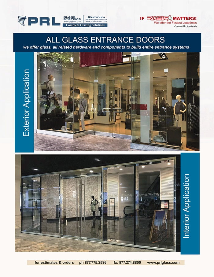 glass entrance