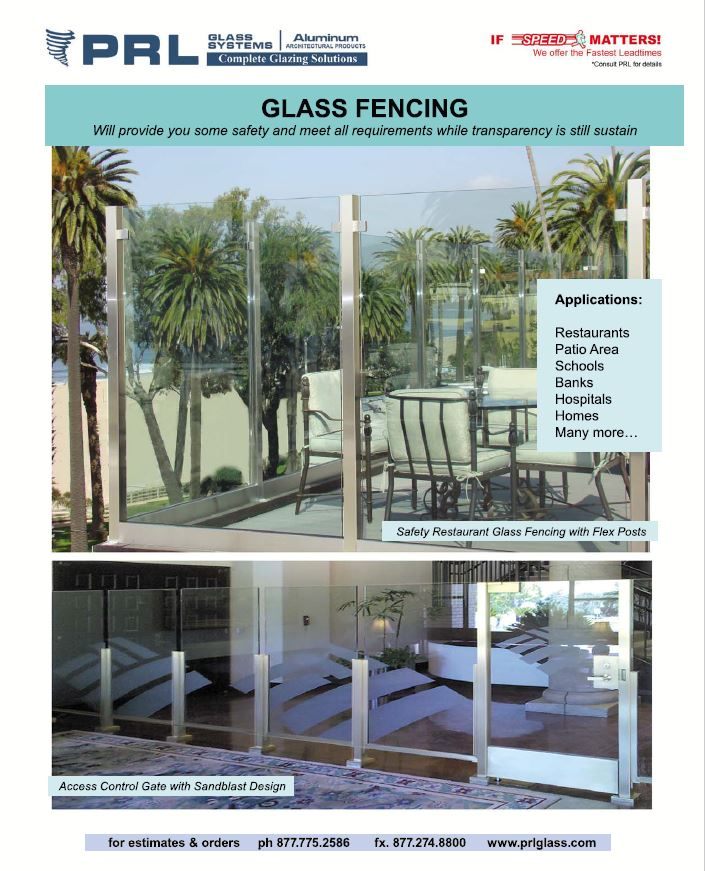 PRL's Glass Fences. Get Flex Posts & Glass Panels for your next project!
