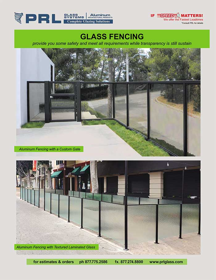 Aluminum Framed Glass Fencing. How Many Designs? See at PRL!