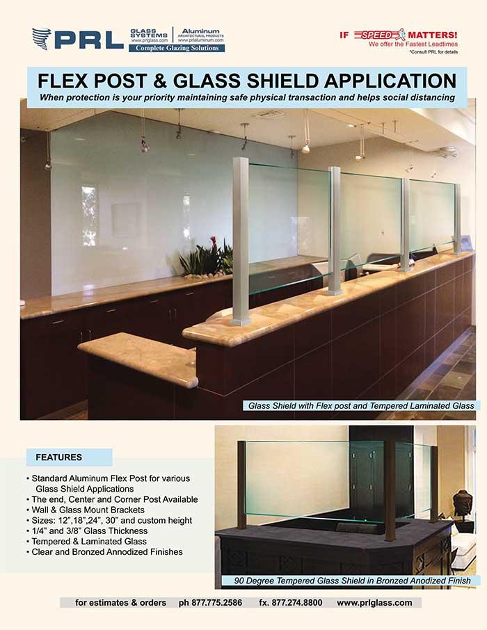 Shop Protective Glass Shields at PRL. Flex Posts & Glass for Public Spaces!