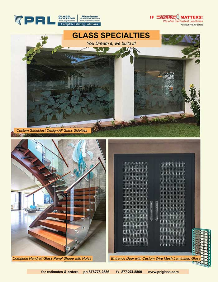 PRL's Custom Glass Specialties. You dream it, we build it!