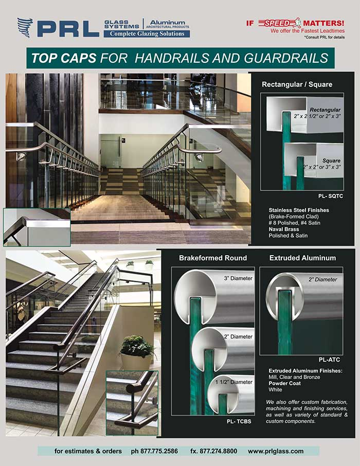 PRL's Handrail & Guardrail Top Caps. Large Selection for Indoor & Outdoor Railing Systems