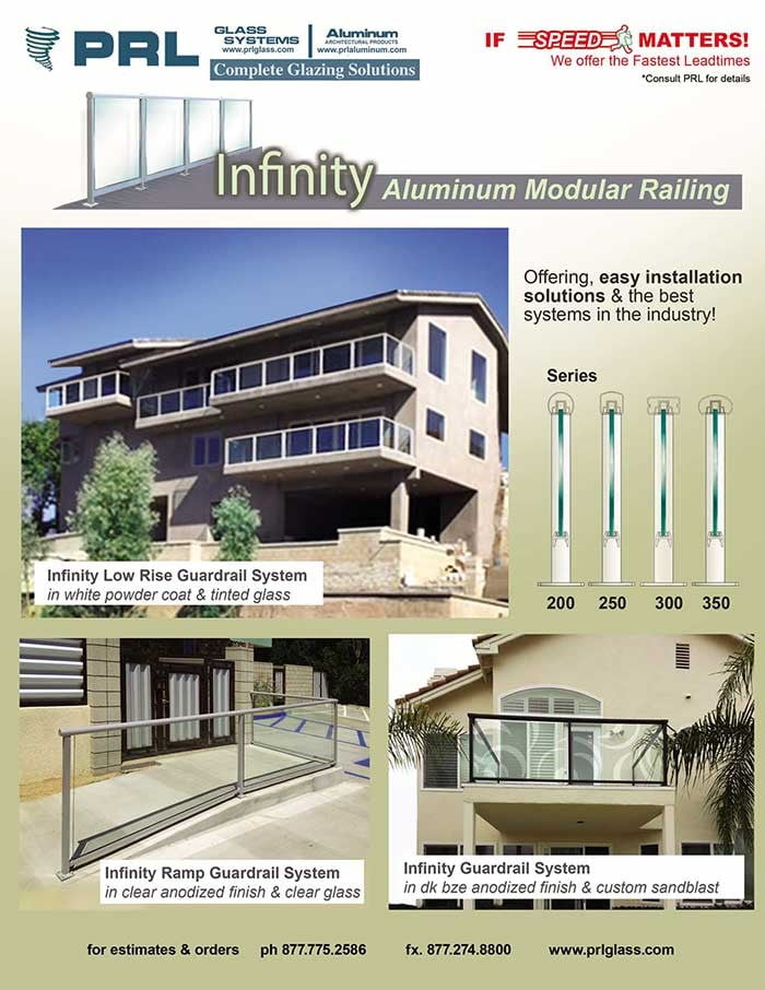 PRL's Infinity Glass Guardrail System
