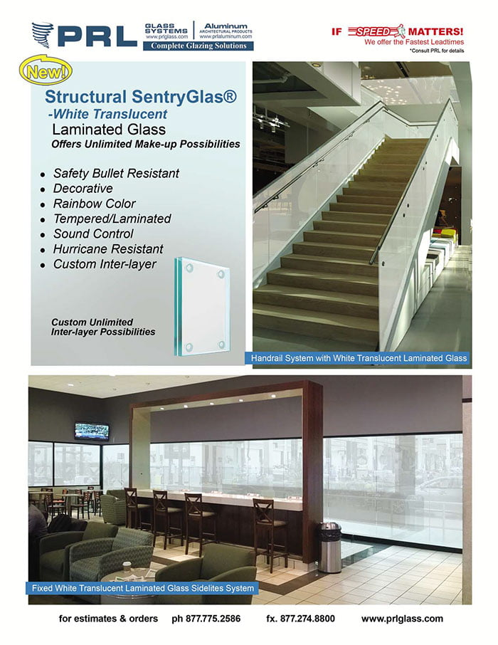 PRL is proud to present our High Performance Laminated Glass