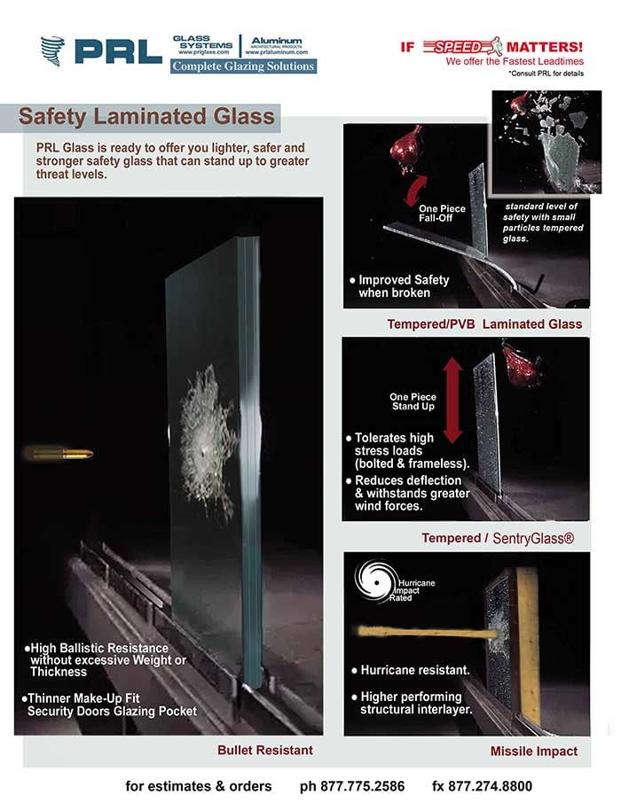 Laminated and Tempered Safety Glass