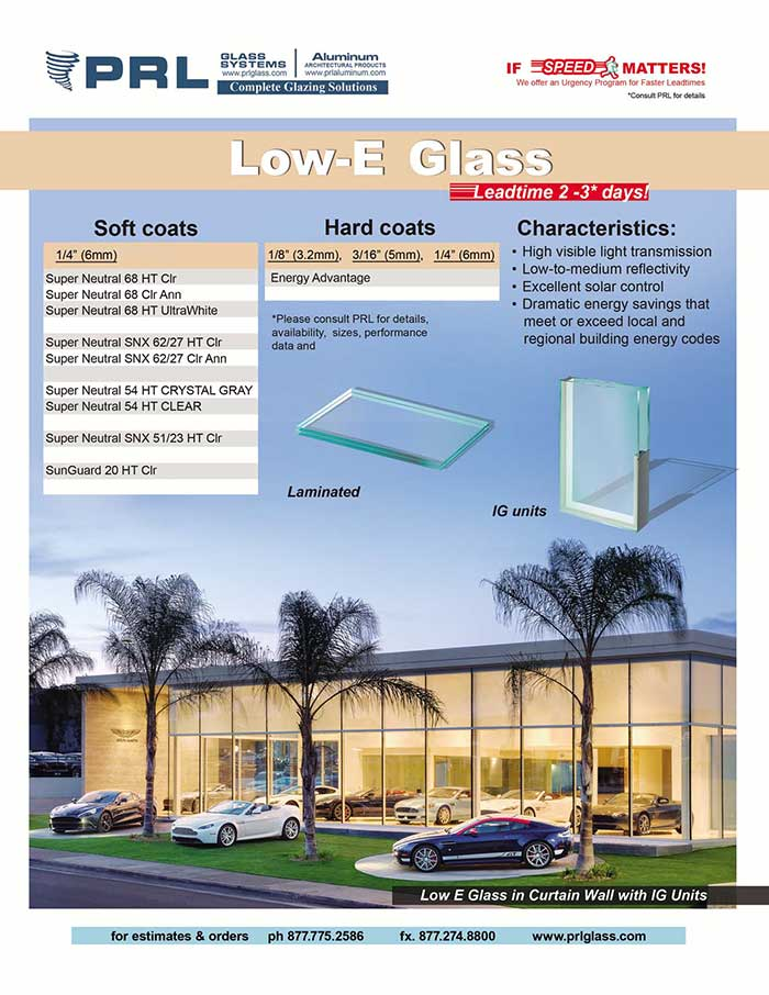 Low-E Architectural Glass IG's now 2-3 working days!