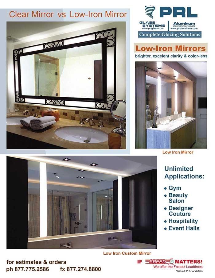 1/4″ Low Iron Mirror