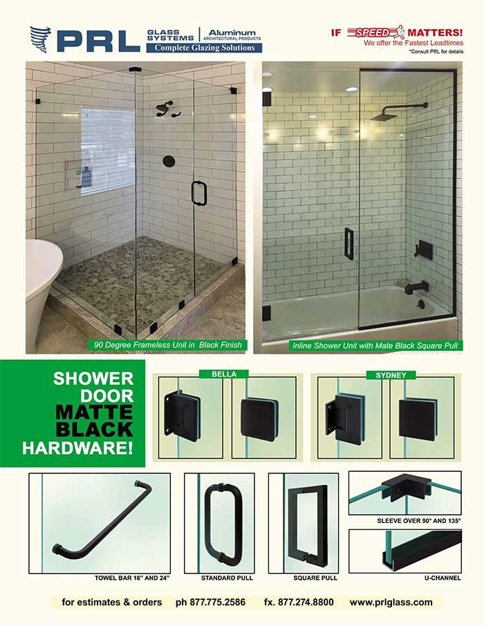 Matte Black Shower Hardware Finish, Available at PRL!