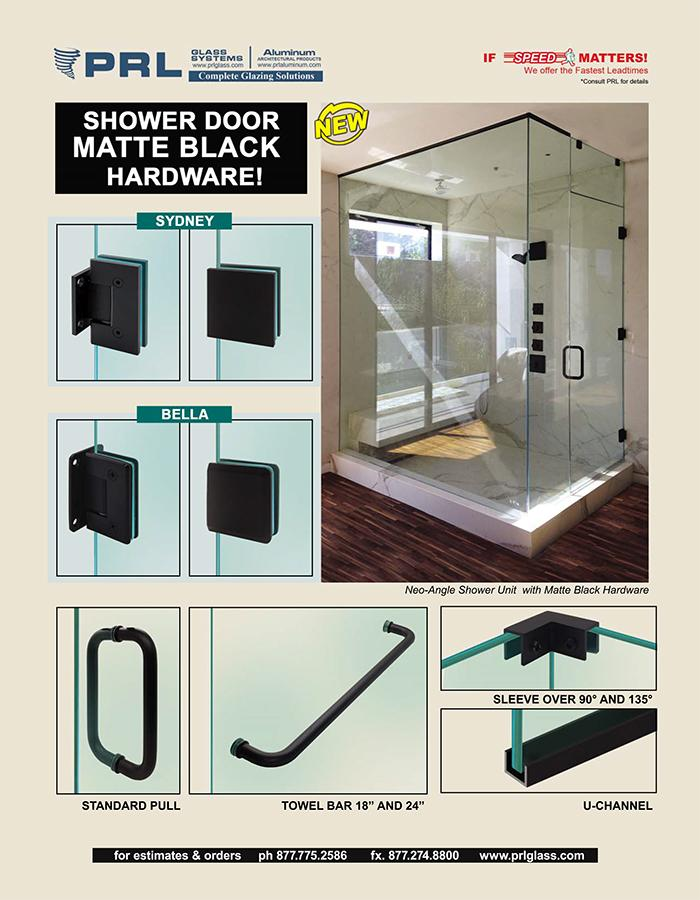 matte black shower hardware