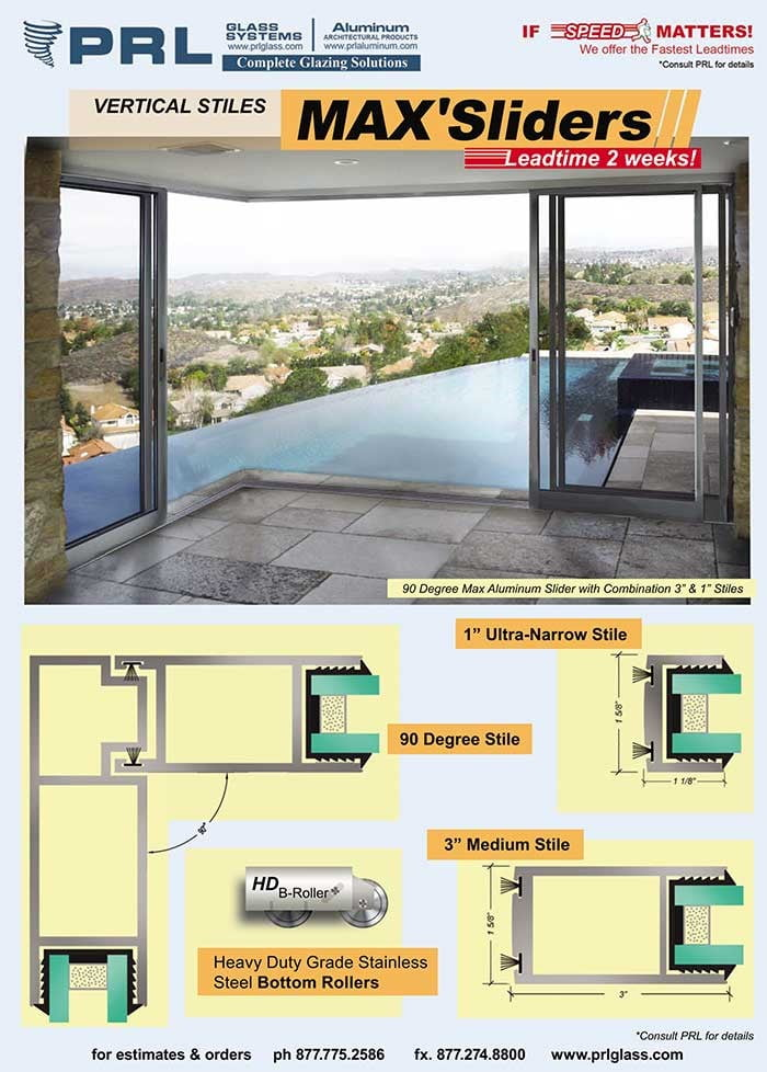PRL's Ultra Narrow 1″ Stile Max Sliders: Indoor/Outdoor Sliders with Expansive Glass Views!