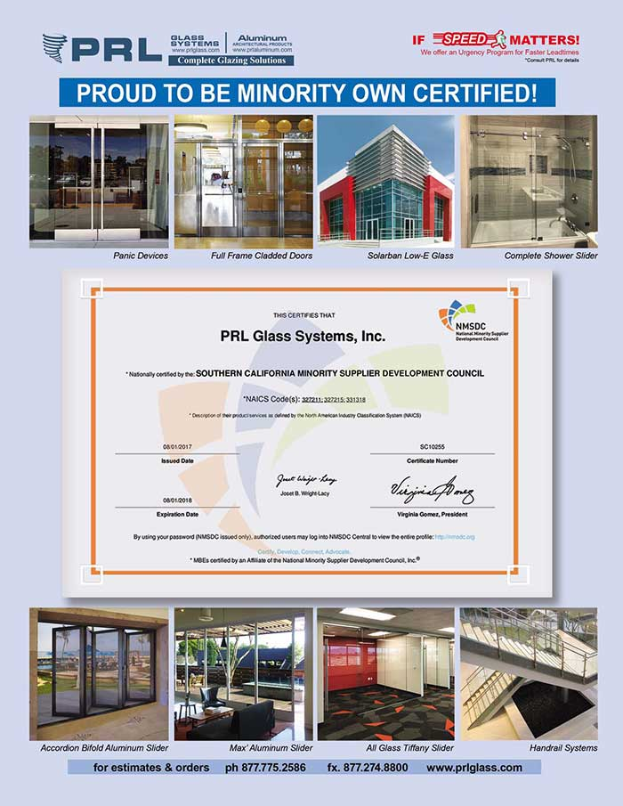 PRL is Proud to Announce Our Minority Owned Business Enterprise MBE Certification!