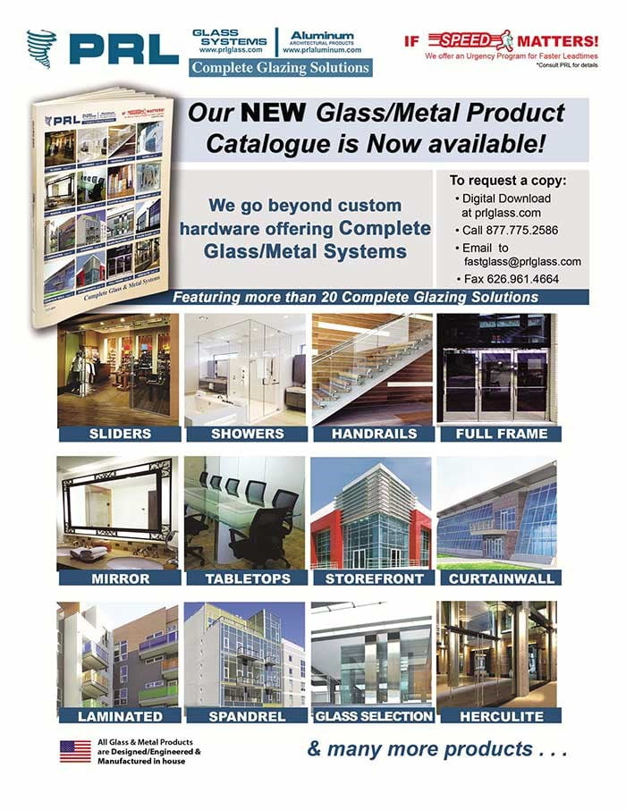New PRL 2015 Complete Architectural Glass and Metal Systems Catalog