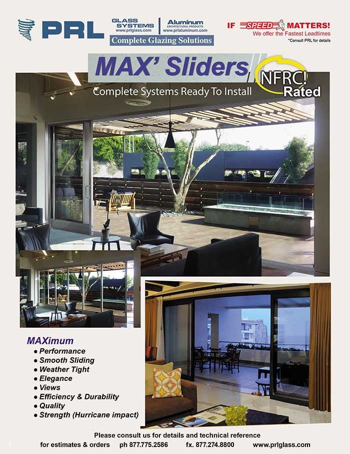 Max Slider Aluminum Sliding Glass Doors NFRC Certification