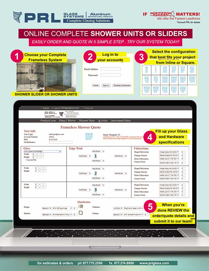 online shower ordering system