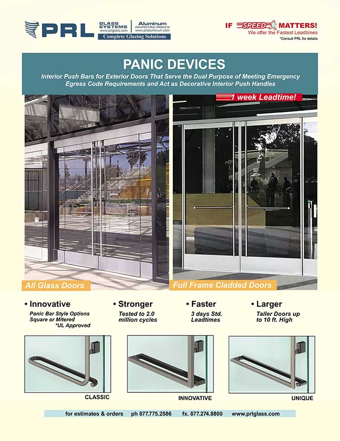 all glass door panic device video