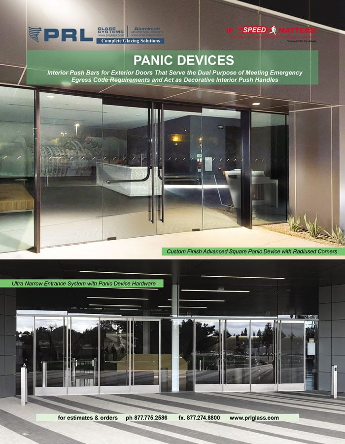 Shop PRL's Panic Door Device, Complete Entrance Systems You Can't Bid Without!