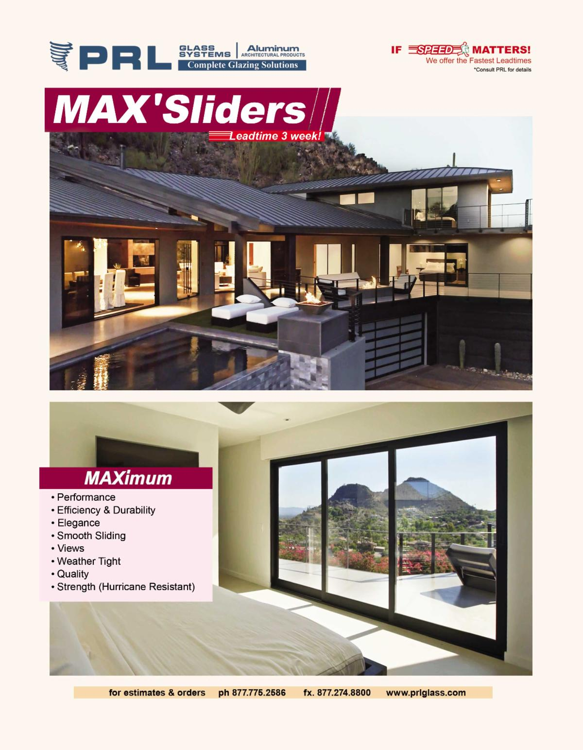 PRL Max Aluminum Sliding Doors. Who Makes Traditional & Corner Sliders? Buy at PRL!