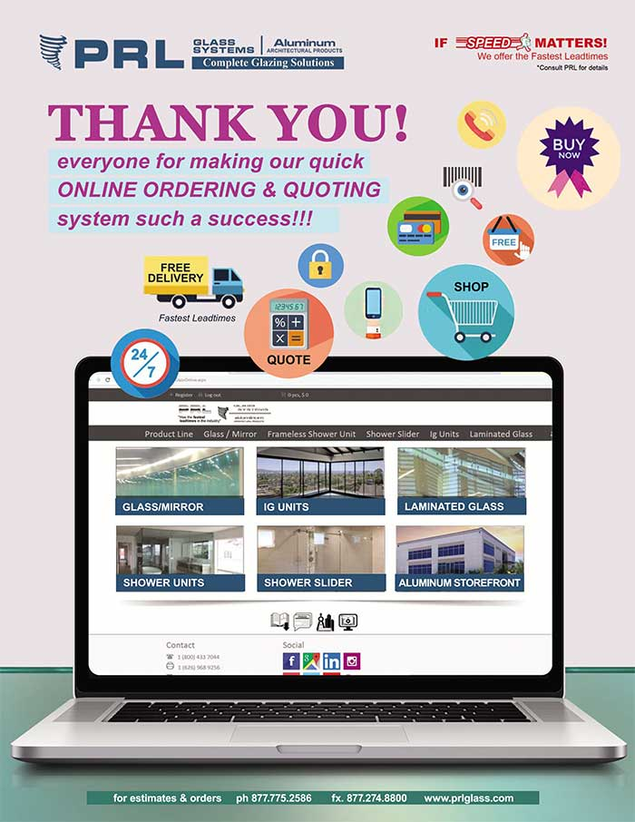 We are grateful for your support with our online quotes & orders system!
