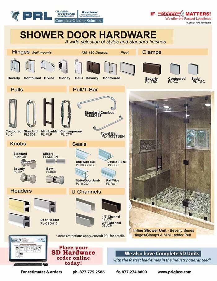 PRL's Shower Door Hardware