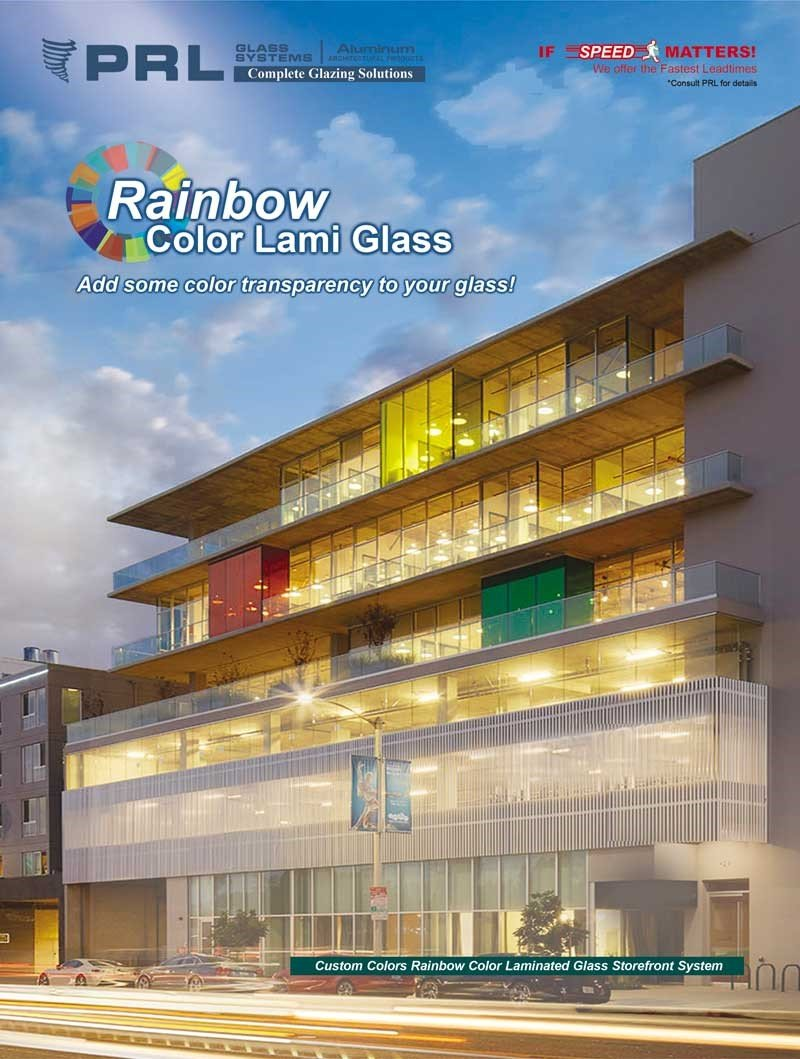 Rainbow Colored Laminated Glass. Get 12 Standard & Over 1,000 Custom Shades at PRL!