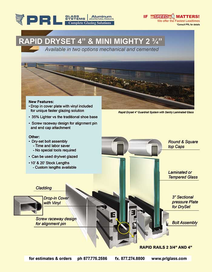Rapid Dryset Handrail Base Shoes. Innovate Your Installations! Bid With PRL!