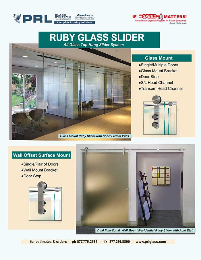 You Wouldn't Want to Miss PRL's Ruby All Glass Sliders