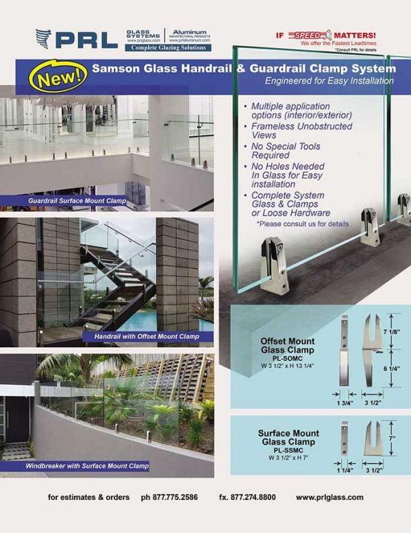Samson frame-less glass railing system