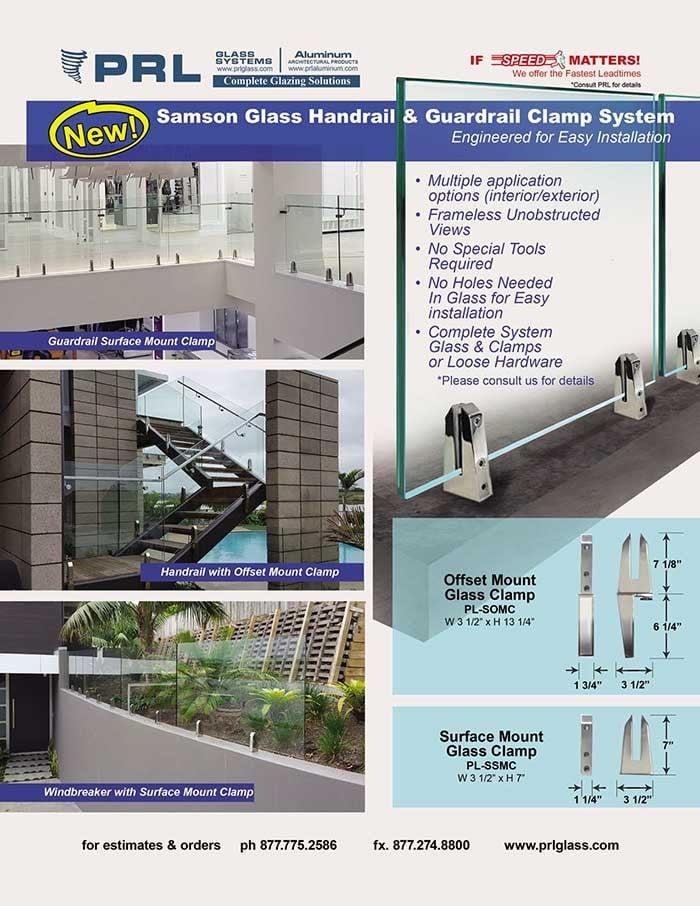 Samson Glass Handrail & Guardrail Clamp System