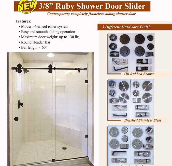 PRL's New Ruby Shower Door Slider – A Completely Frameless Contemporary Sliding Shower Door!