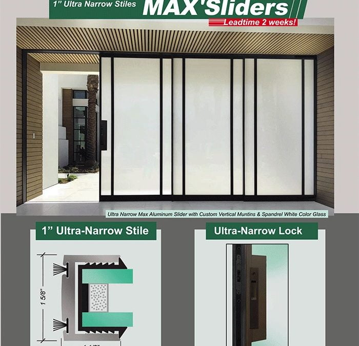 Ultra Narrow Max Aluminum Sliding Doors