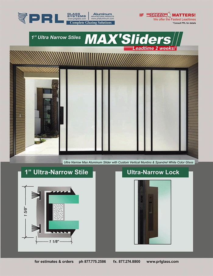 Ultra Narrow Max Aluminum Sliding Doors